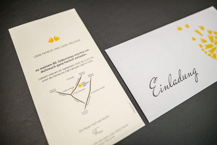 Einladungskarte zum 80.er
